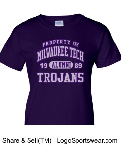 Ladies Milwaukee Tech Class of 1989 Tee-Sizes XS to 3XL Design Zoom